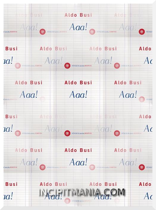 Copertine di Aaa! di Aldo Busi