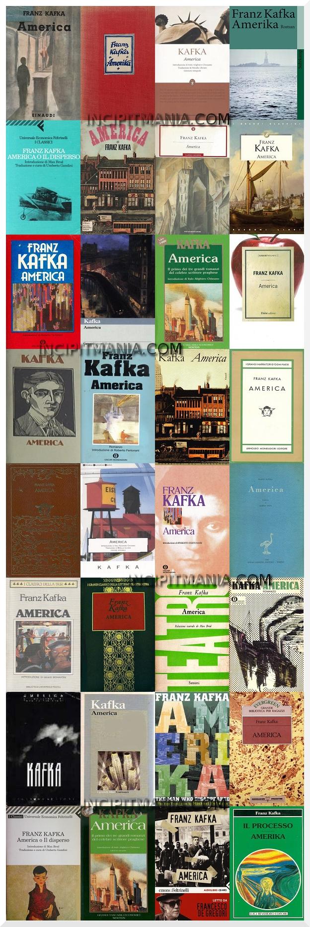 Copertine di America di Franz Kafka