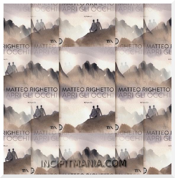 Copertine di Apri gli occhi di Matteo Righetto