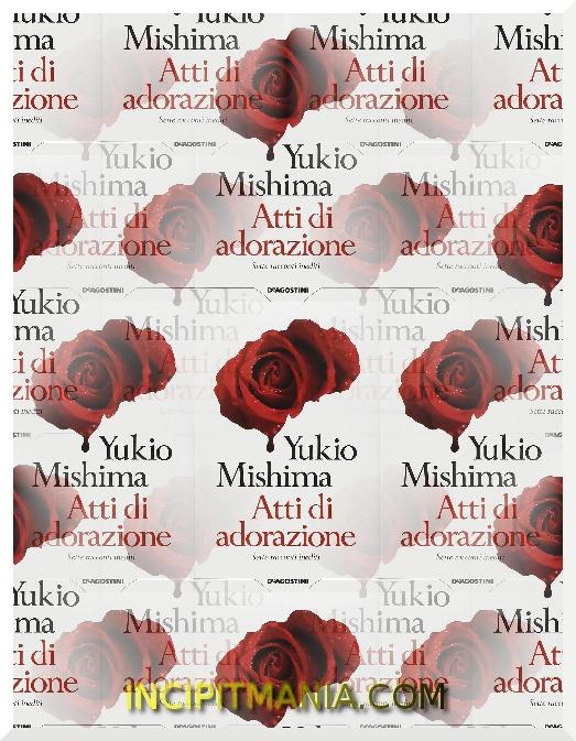 Copertine di Atti di adorazione di Yukio Mishima