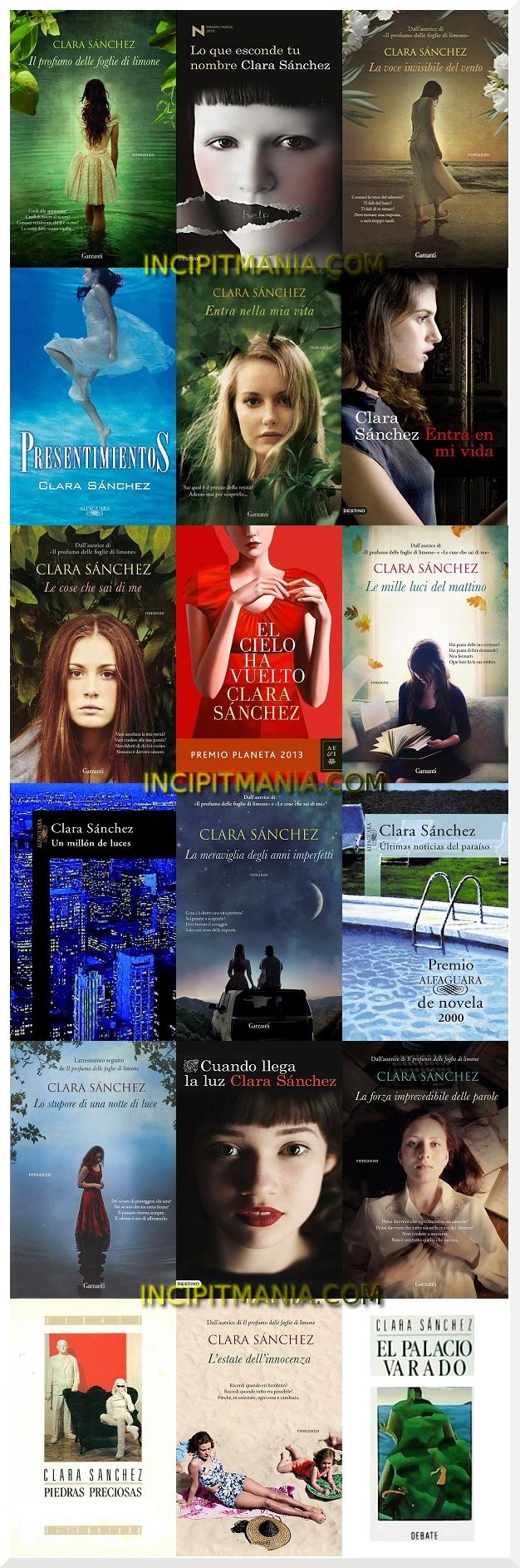 Copertine delle opere di Clara Sánchez