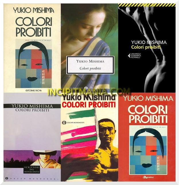 Copertine di Colori proibiti di Yukio Mishima