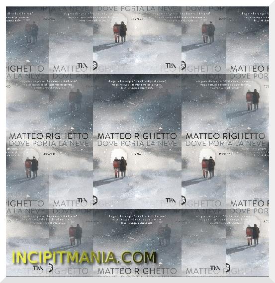 Copertine di Dove porta la neve di Matteo Righetto