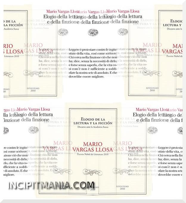 Copertina di Elogio della lettura e della finzione di Mario Vargas Llosa