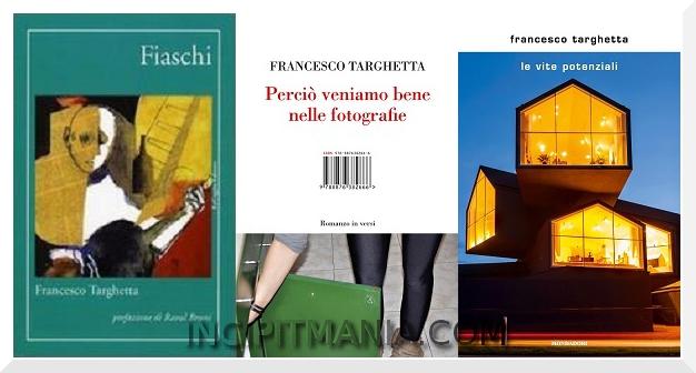 Copertine della bibliografia di Francesco Targhetta