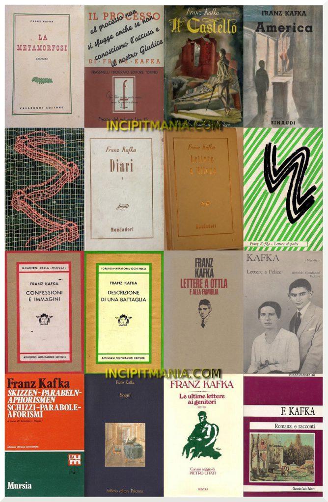 Copertine della bibliografia di Franz Kafka