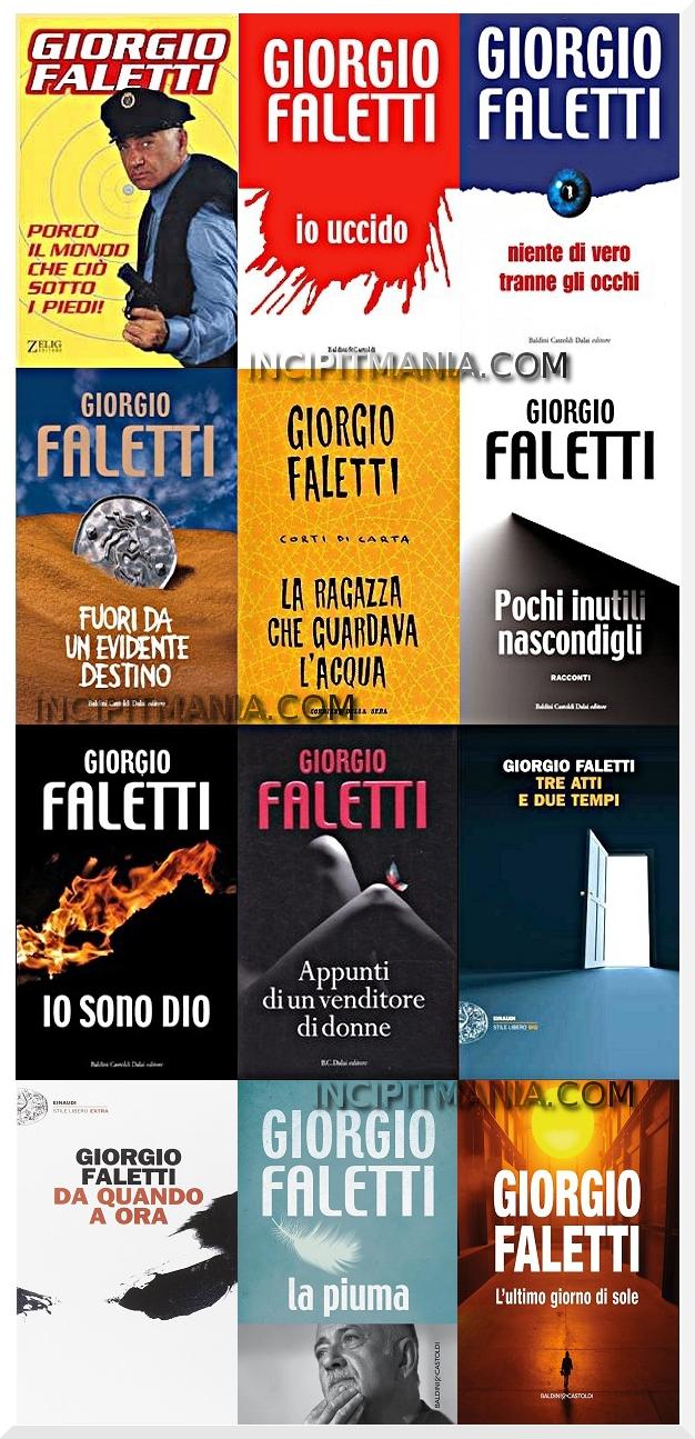 Copertine della Bibliografia di Giorgio Faletti