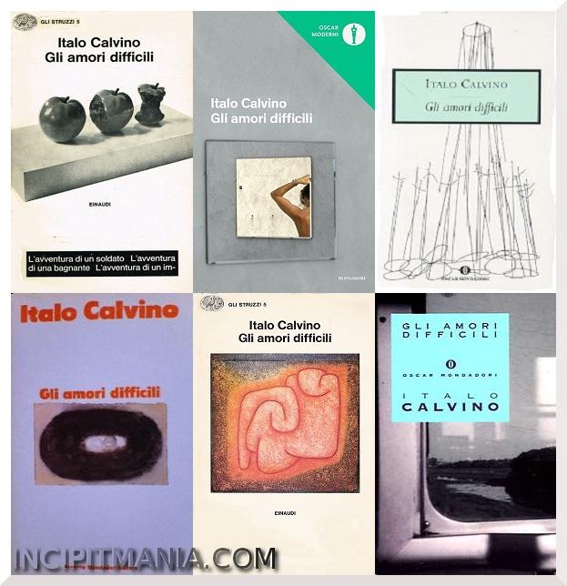 Copertine di Gli amori difficili di Italo Calvino