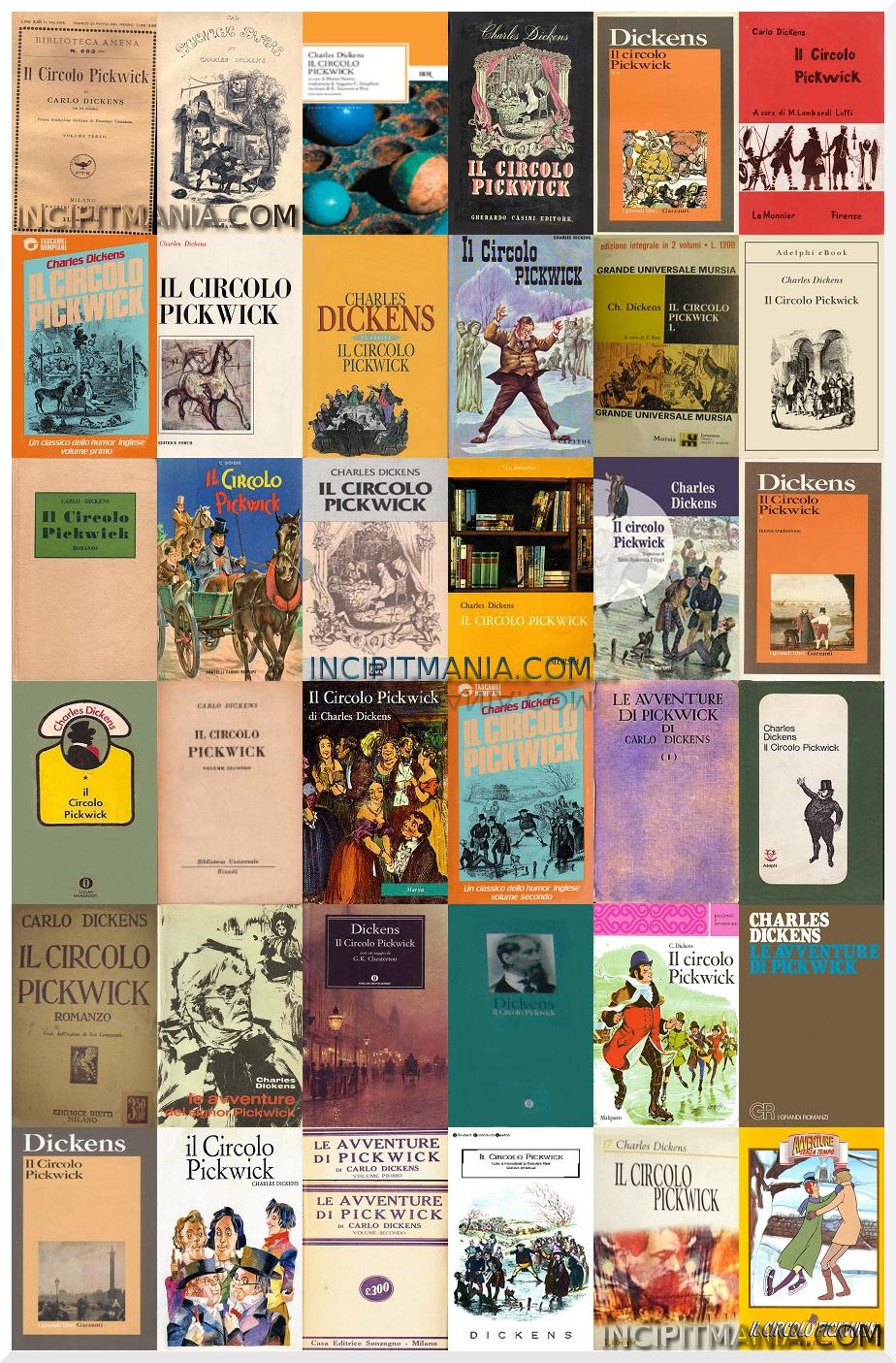 Copertine di Il circolo Pickwick di Charles Dickens