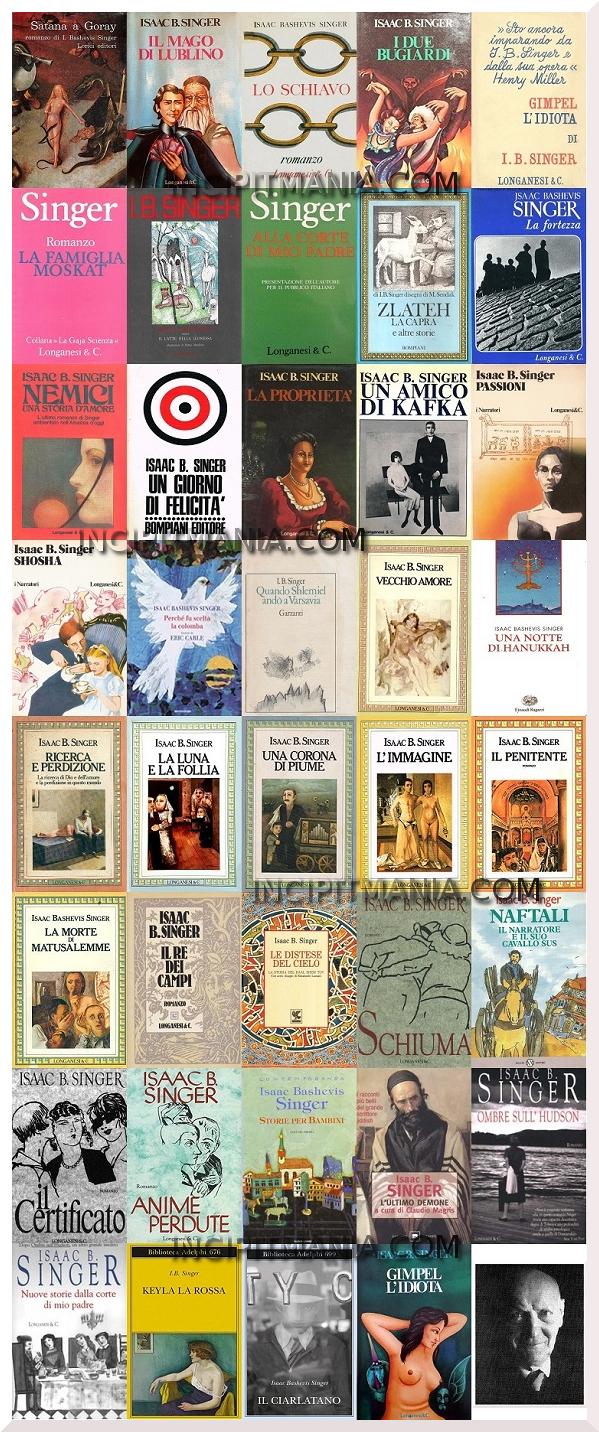 Copertine  delle opere di Isaac Bashevis Singer