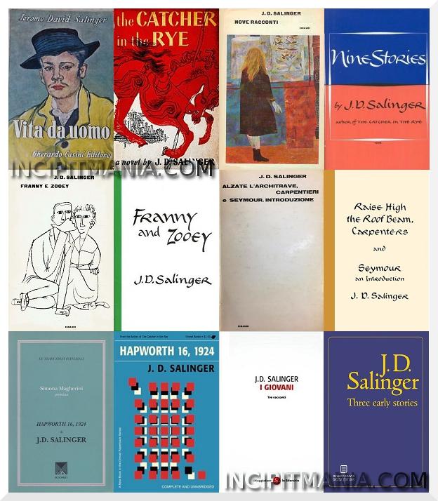 J.D. Copertine delle prime edizioni dei romanzi