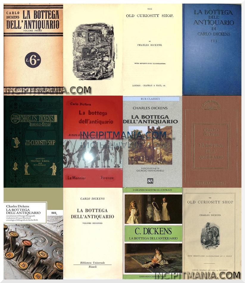 Copertine di La bottega dell'antiquario di Charles Dickens