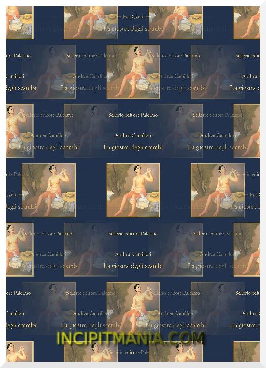 Copertina di La giostra degli scambi di Andrea Camilleri