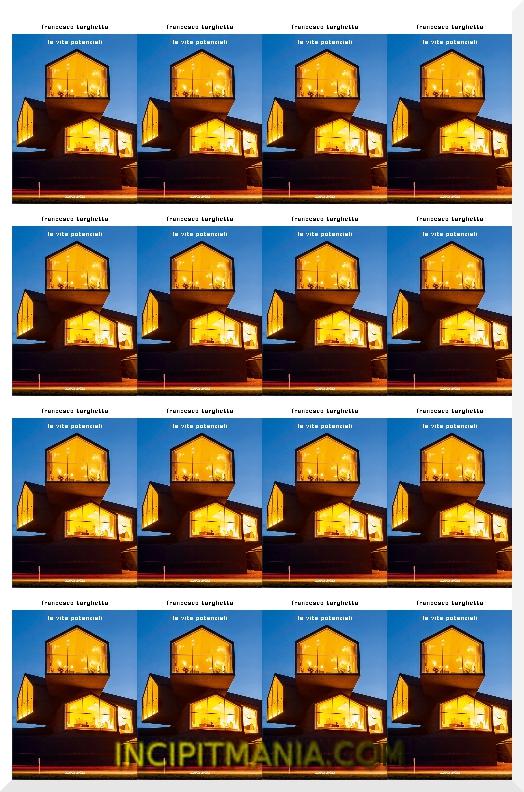 Copertina di le vite potenziali di Francesco Targhetta