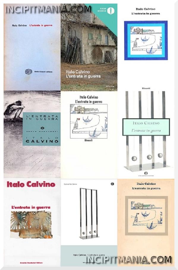 Copertine di L'entrata in guerra di Italo Calvino