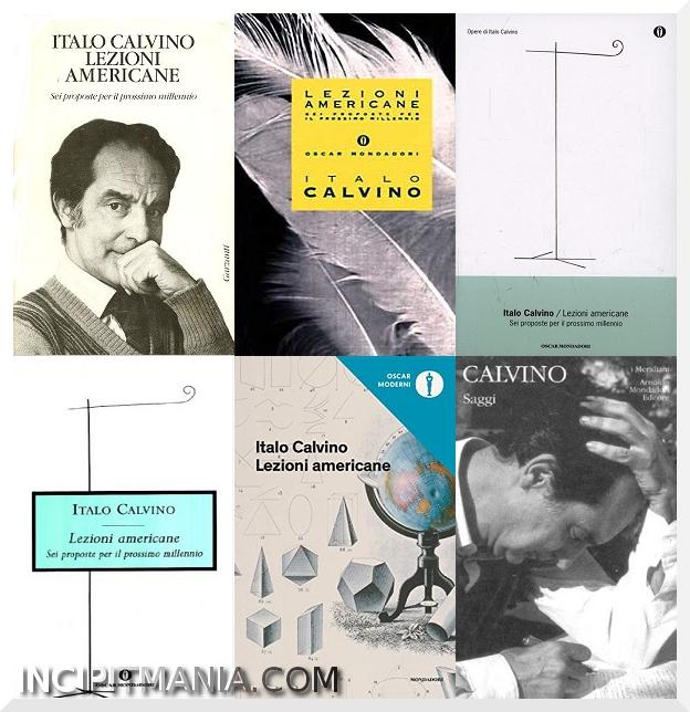Copertine di Lezioni Americane di Italo Calvino