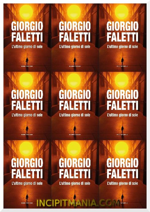 Copertina di L'ultimo giorno di sole di Giorgio Faletti