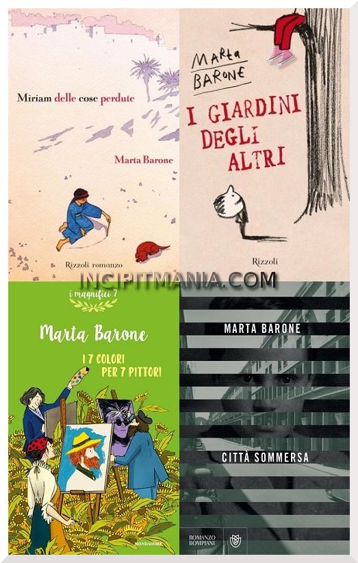 Copertine delle opere di Marta Barone