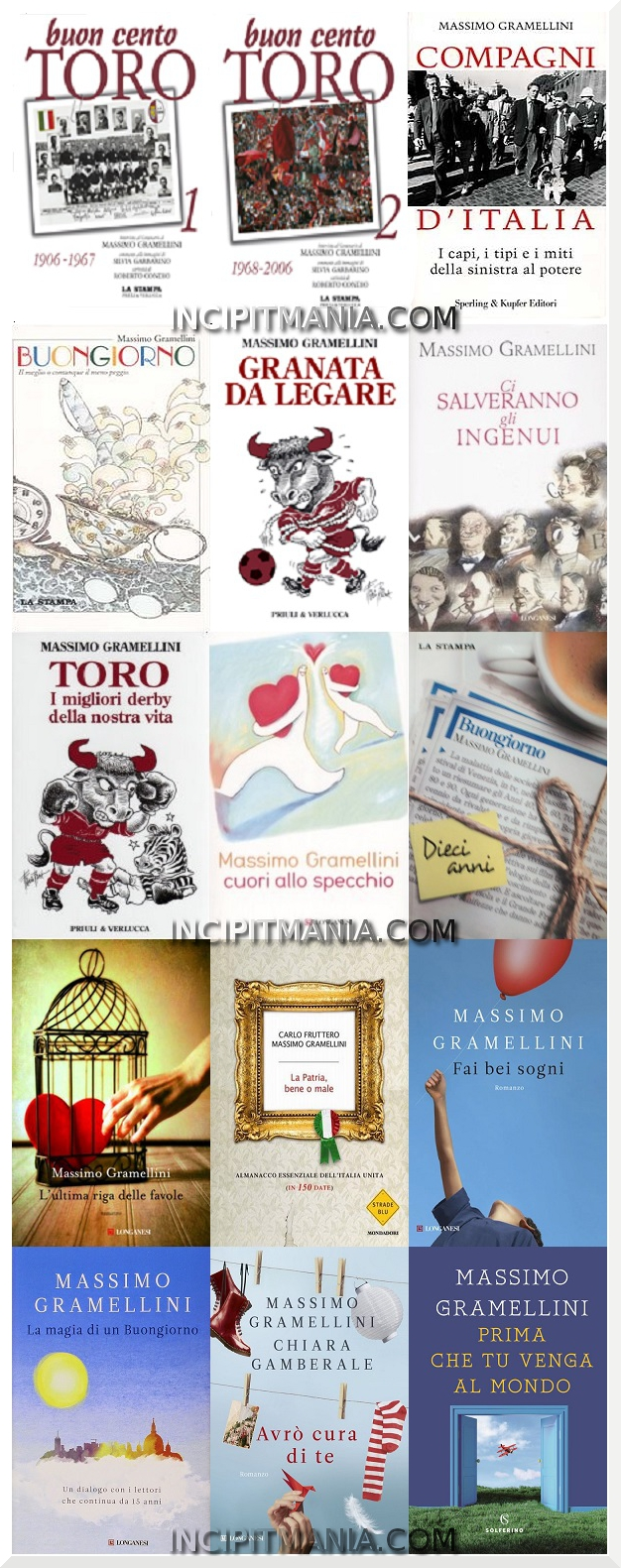 Copertine delle opere di Massimo Gramellini