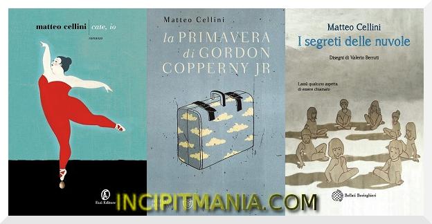 Copertine delle opere di Matteo Cellini Bibliografia