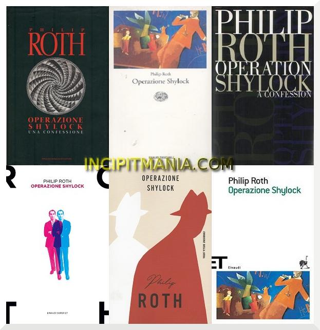 Copertine di Operazione Shylock di Philip Roth