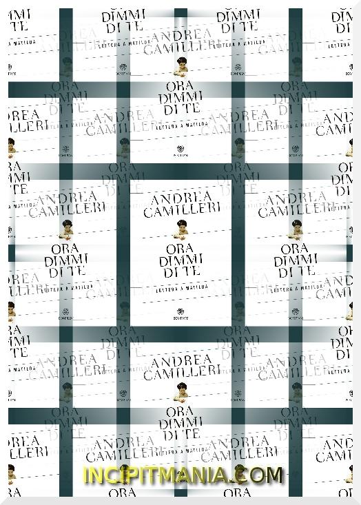 Copertina di Ora dimmi di te di Andrea Camilleri