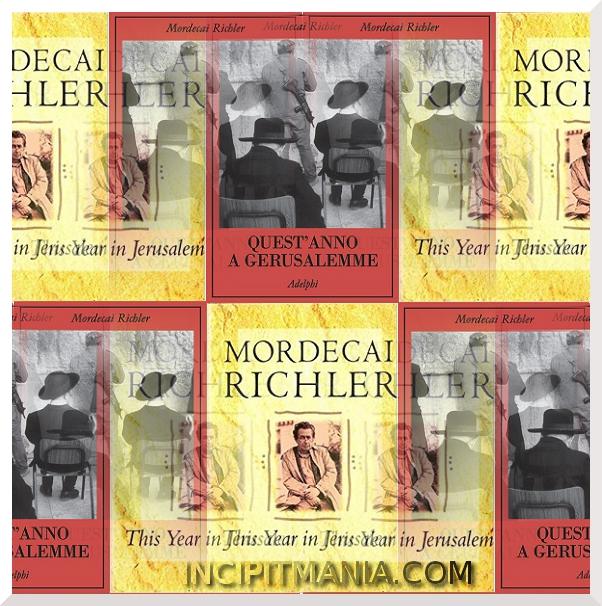 Copertine di Quest'anno a Gerusalemme di Mordecai Richler