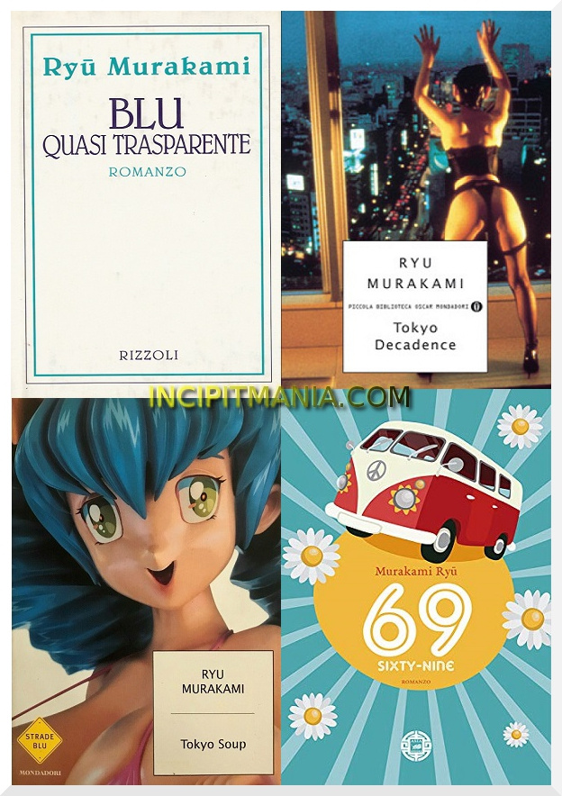 Copertine delle opere di Ryū Murakami