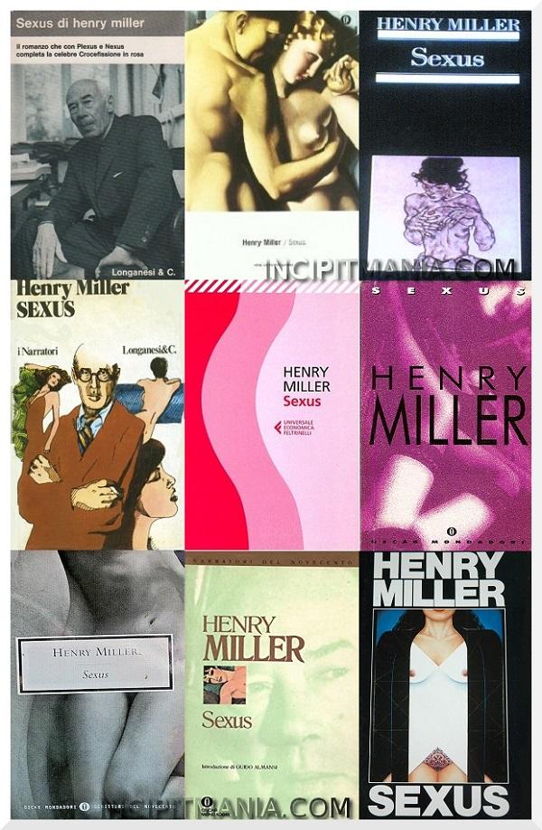 Copertine di Sexus di Henry Miller