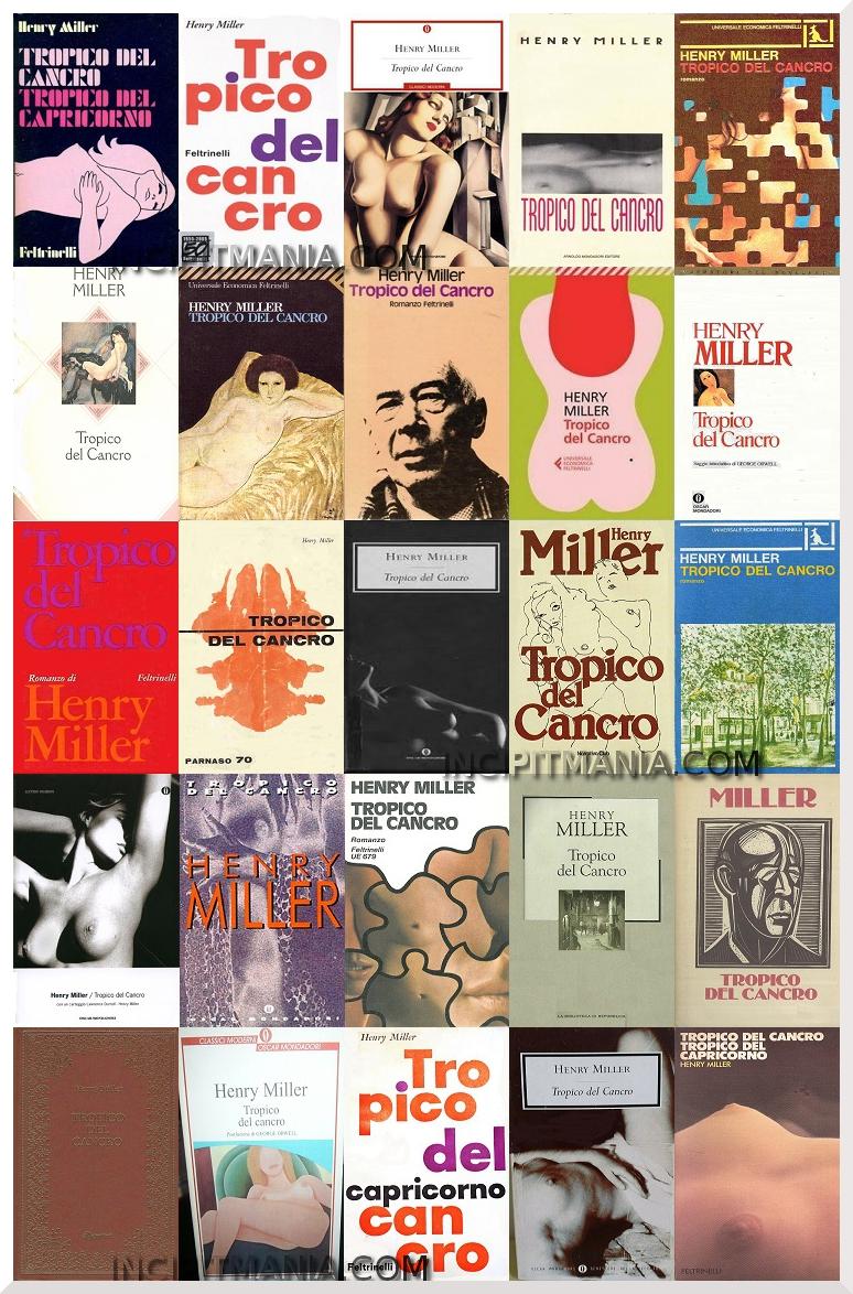 Copertine di Tropico del cancro di Henry Miller
