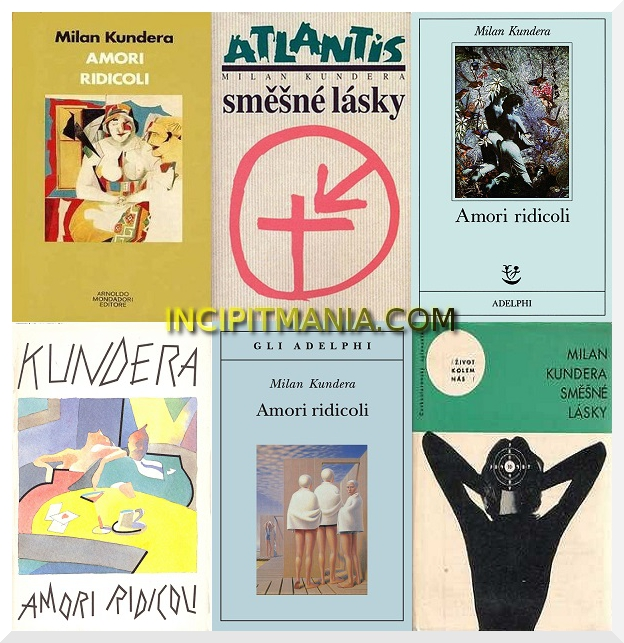 Copertine di Amori ridicoli di Milan Kundera