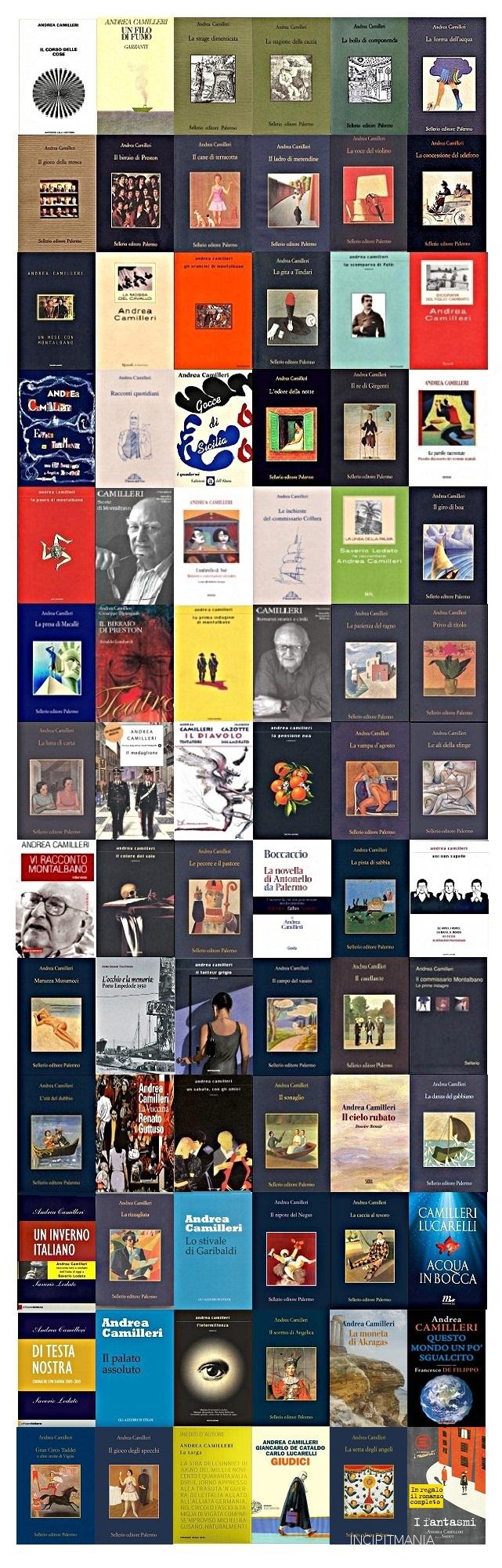 Copertine della Bibliografia di Andrea Camilleri