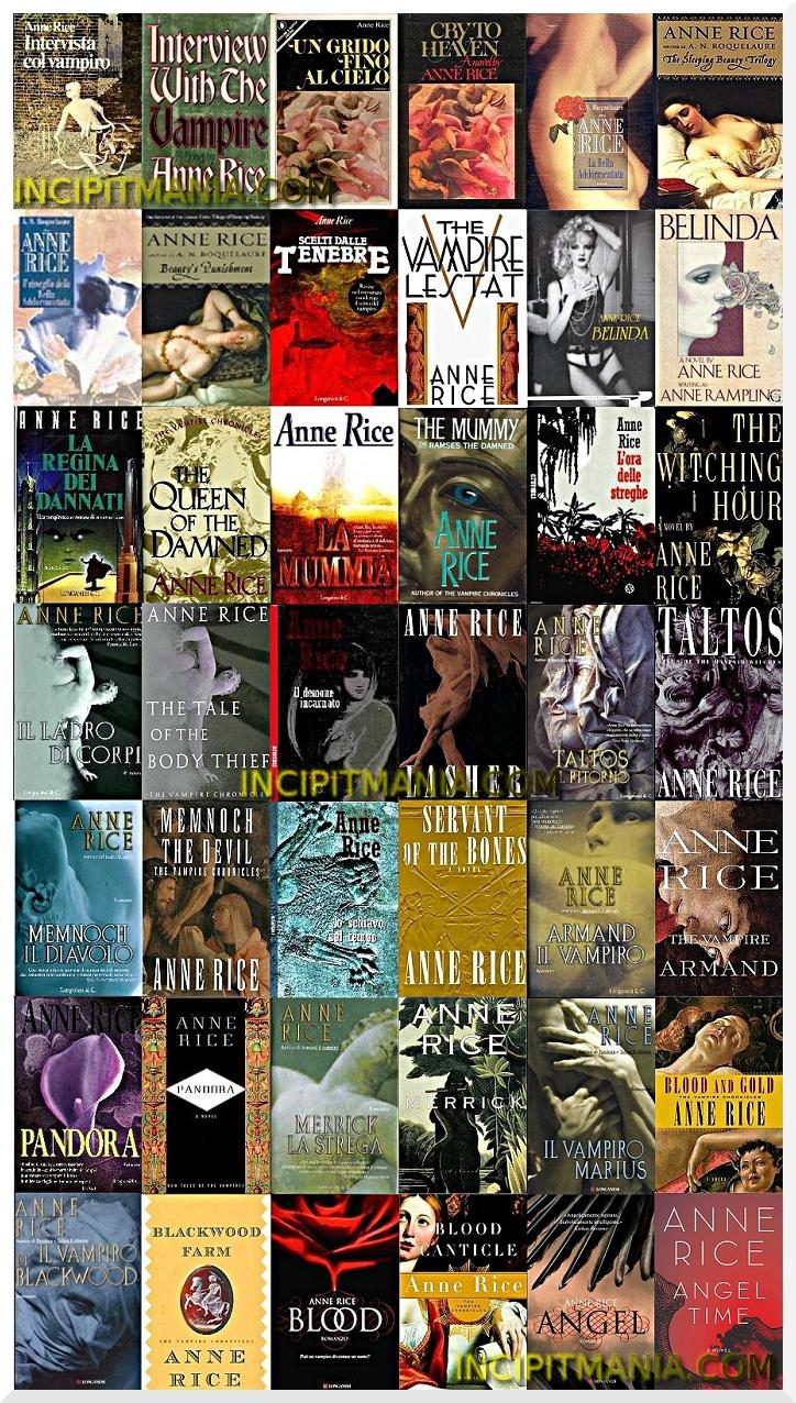Anne Rice - Opere - Bibliografia