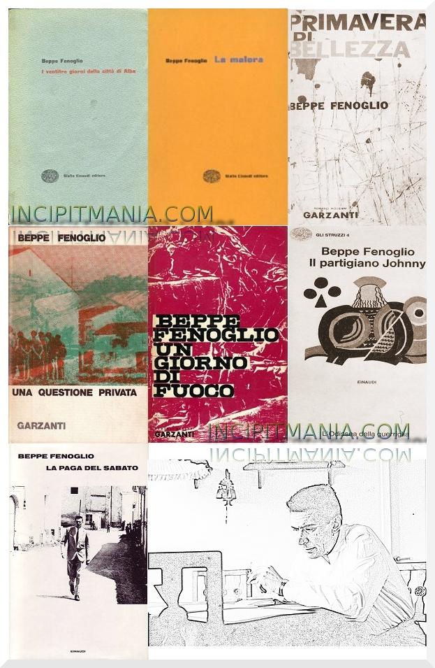 Copertine delle Opere e Bibliografia Beppe Fenoglio