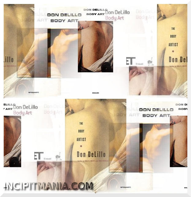 Copertine di Body art di Don DeLillo