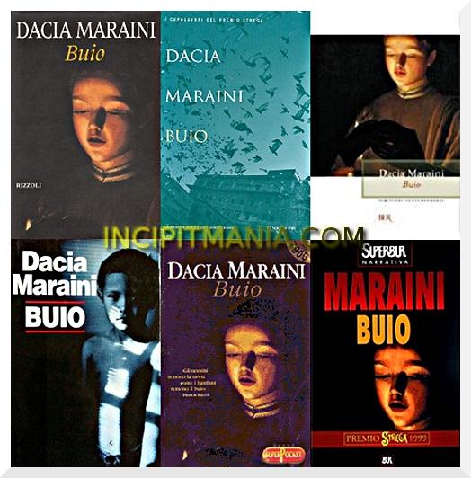 Copertine di Buio di Dacia Maraini