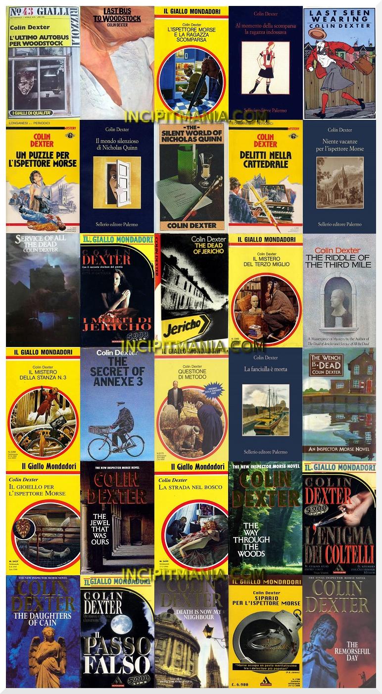 Opere e bibliografia Colin Dexter