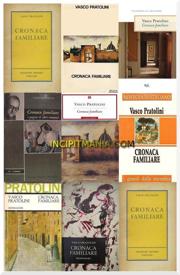 Copertine di Cronaca familiare di Vasco Pratolini