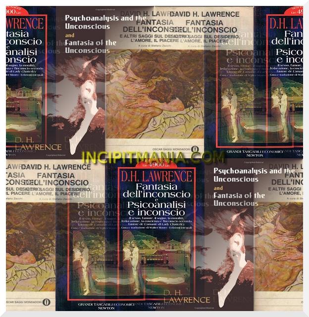 Copertine di Fantasia dell'inconscio di D.H. Lawrence