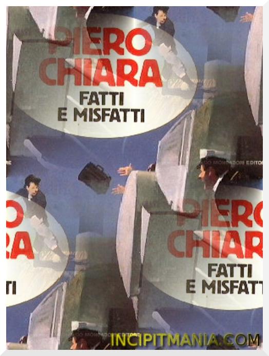 Copertina di Fatti e misfatti di Piero Chiara
