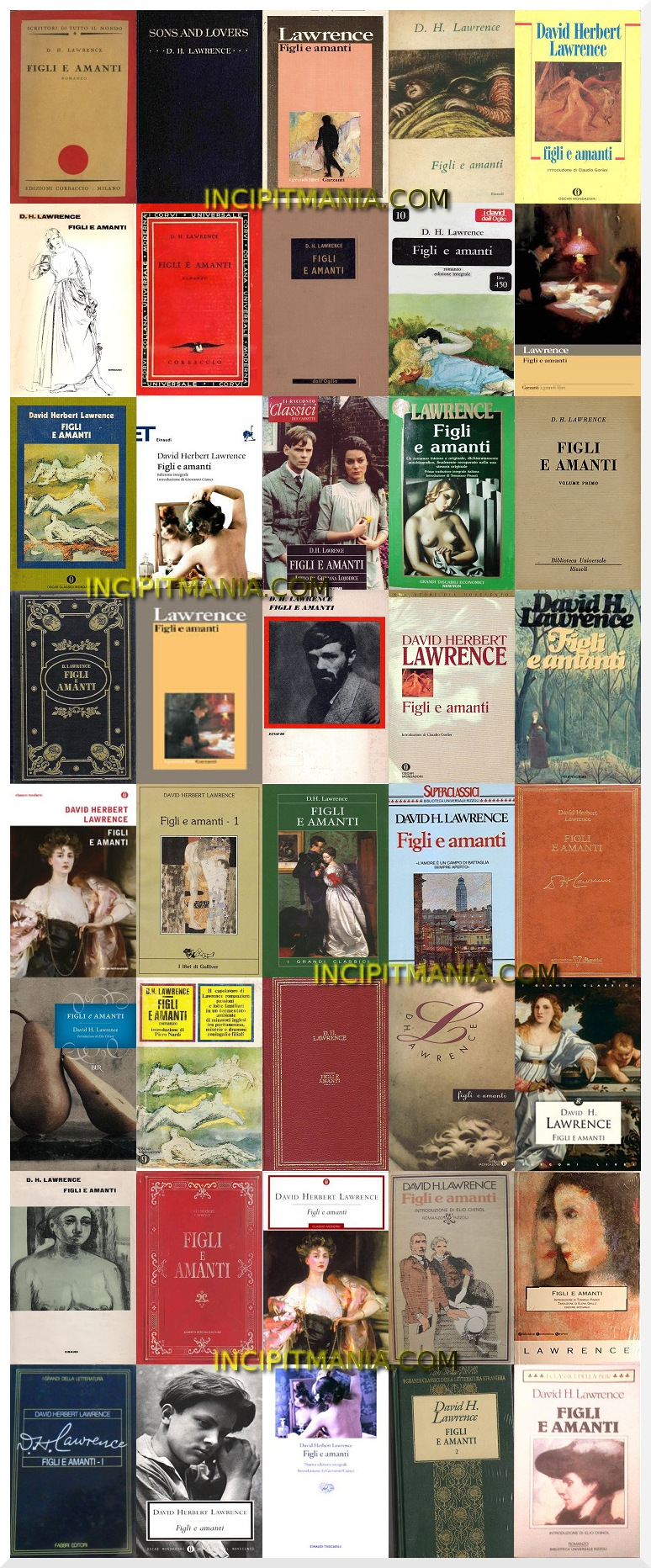 Figli e amanti di D.H. Lawrence