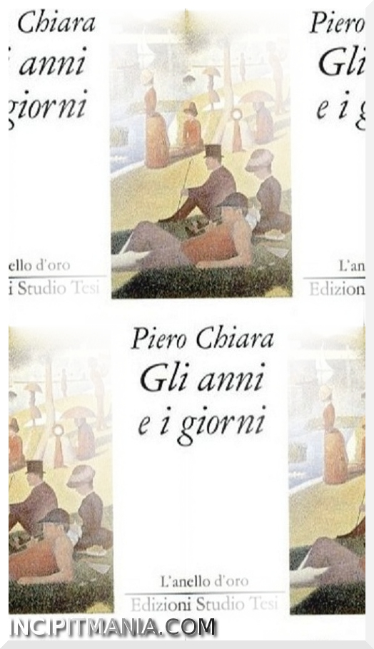 Copertina di Gli anni e i giorni di Piero Chiara