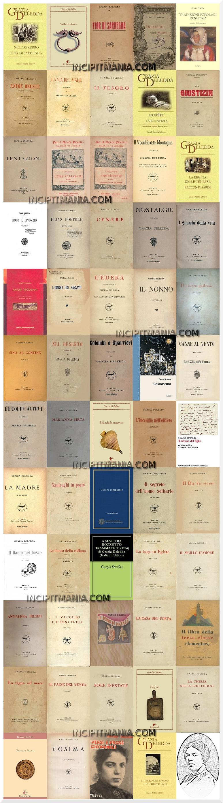 Opere e Bibliografia Grazia Deledda