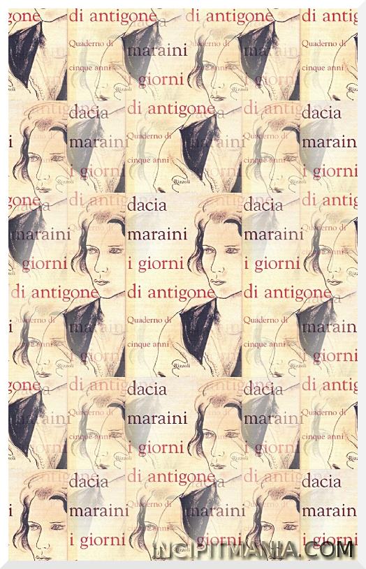 Copertine di I giorni di Antigone di Dacia Maraini