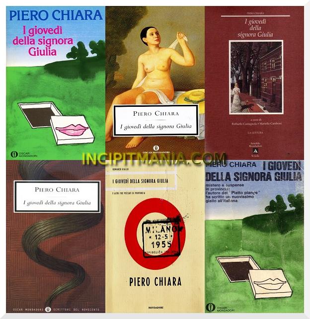 Copertine di I giovedì della signora Giulia di Piero Chiara