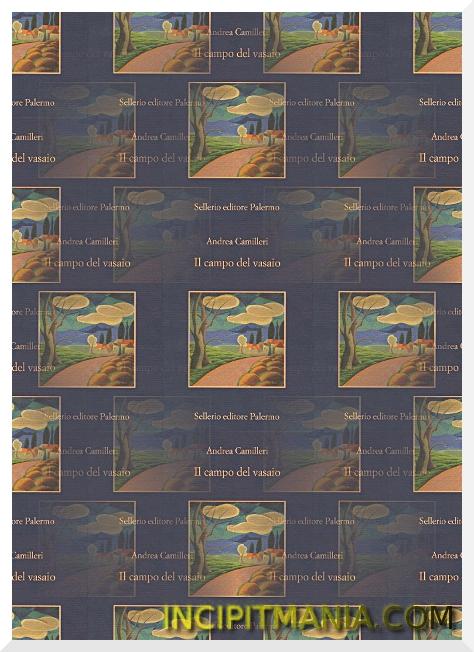 Copertina di Il campo del vasaio di Andrea Camilleri
