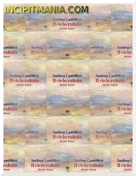 Copertine di Il cielo rubato di Andrea Camilleri