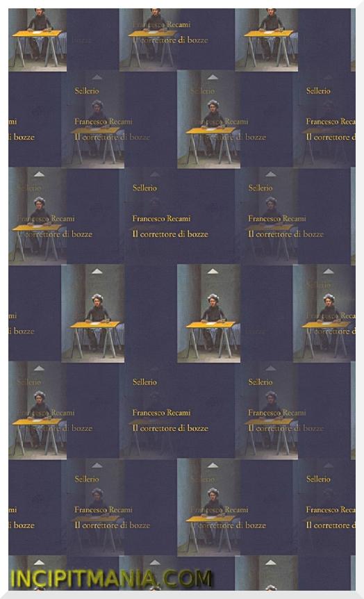 Copertina di Il correttore di bozze di Francesco Recami