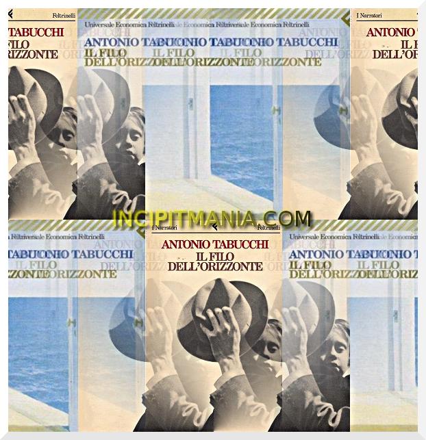 Copertine di Il filo dell'orizzonte di Antonio Tabucchi