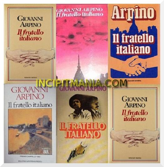 Copertine di Il fratello italiano di Giovanni Arpino